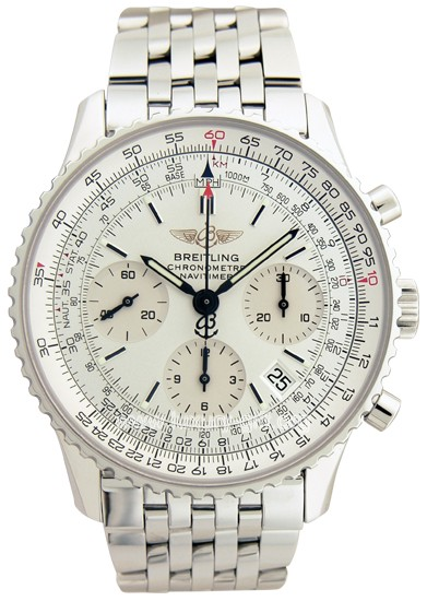 Breitling NavTimer world chronograph stainless steel