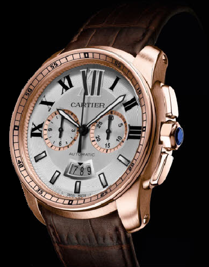 Calibre-de-Cartier-Chronograph-1904-rose-gold-alligator-leather-band-angle-view-LuxuryDiscovery.com_