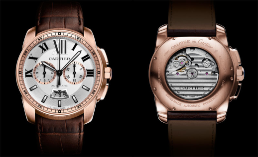 Calibre-de-Cartier-Chronograph-1904-rose-gold-alligator-leather-band-fr-bck-view-LuxuryDiscovery.com_