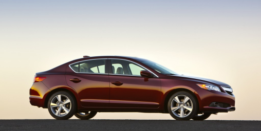2014-acura-ilx-4-door-sedan-red-burgandy-side-exterior-view