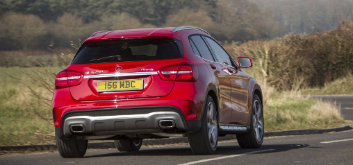 Red-Mercedes-Benz-GLA-rear-view